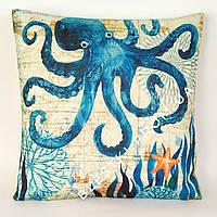 Подарочная подушка морской стиль 45х45см