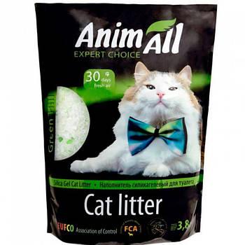 Силикагелевый наполнитель Энимал (AnimАll) кристаллы изумруда для котов, 3,8 л