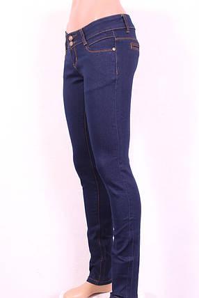 Женские  зауженные джинсы  без потертостей, фото 2