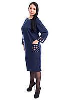 Нарядное платье с лазерным принтом 5502 (размер в наличии  58 ), фото 1