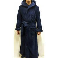 Мужской махровый, длинный халат на запах большого размера 625-1