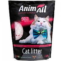 AnimАll (Энимал) силикагелевый наполнитель Розовый лепесток для котов 3.8л