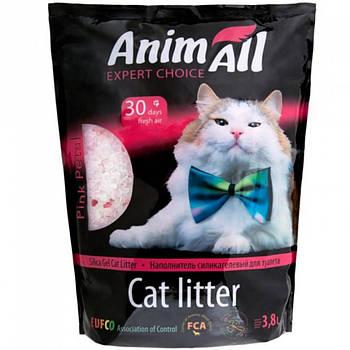 Силикагелевый наполнитель Энимал (AnimАll) розовый лепесток для котов, 3,8 л