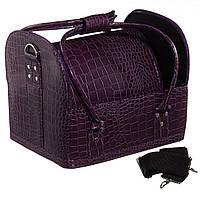 Кейс для косметики, кожаный Фиолетовый