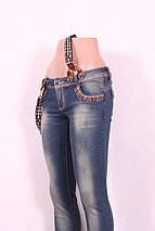 Женские джинсы  с подтяжками, фото 2