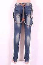 Женские джинсы  с подтяжками, фото 3