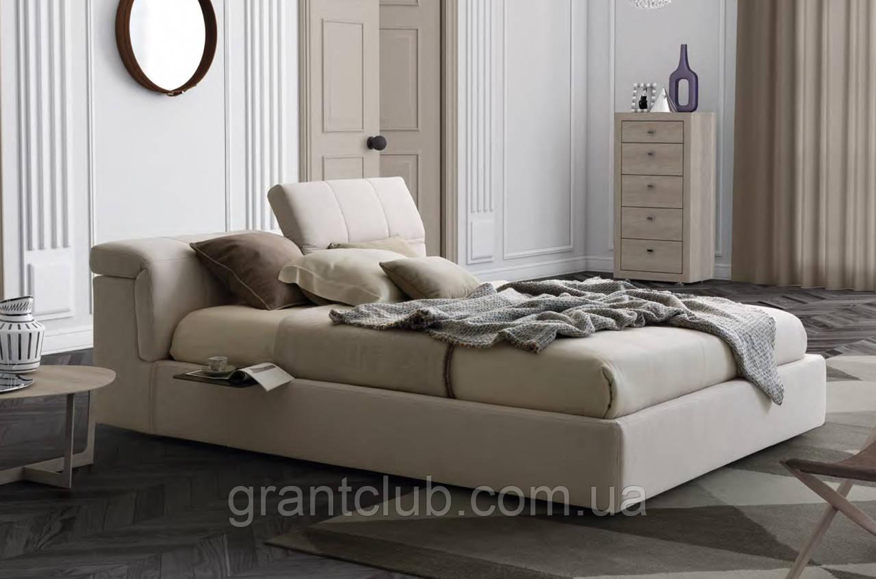 Итальянская мягкая кровать с подъемным изголовьем TOWER фабрика LeComfort