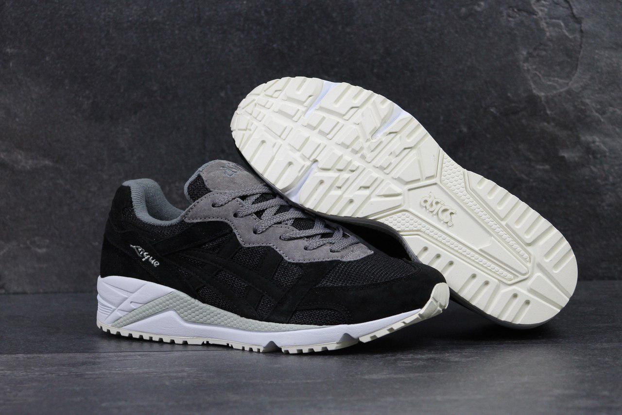 Asics Gel-Lique мужские кроссовки артикул 4478 черные с серым -