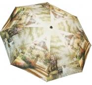 Женский складной зонт полуавтомат (принт)