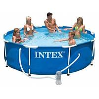 Каркасный бассейн  для большой компании Intex  366х76см с насосом фильтром