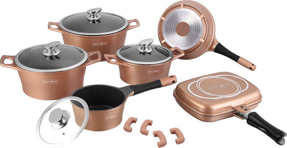 Набор посуды ROYALTY LINE RL ES-1015M copper