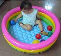 Бассейн детский с надувным дном INTEX 86-25 см