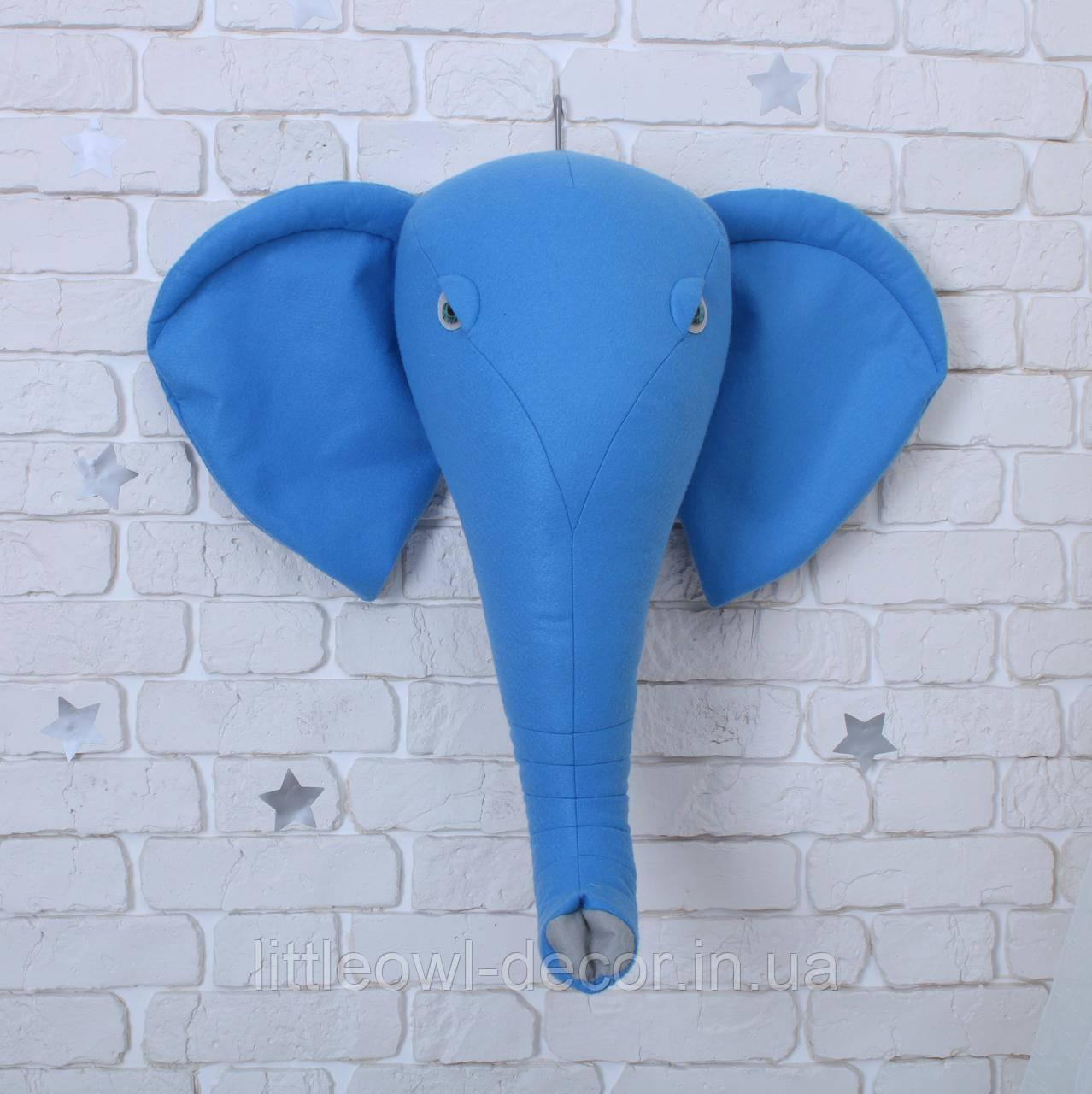 Трофей Слон синий