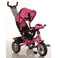 Детский 3-х колесный велосипед Turbo Trike с фарой и ключом зажигания M 3115-6HA Розовый
