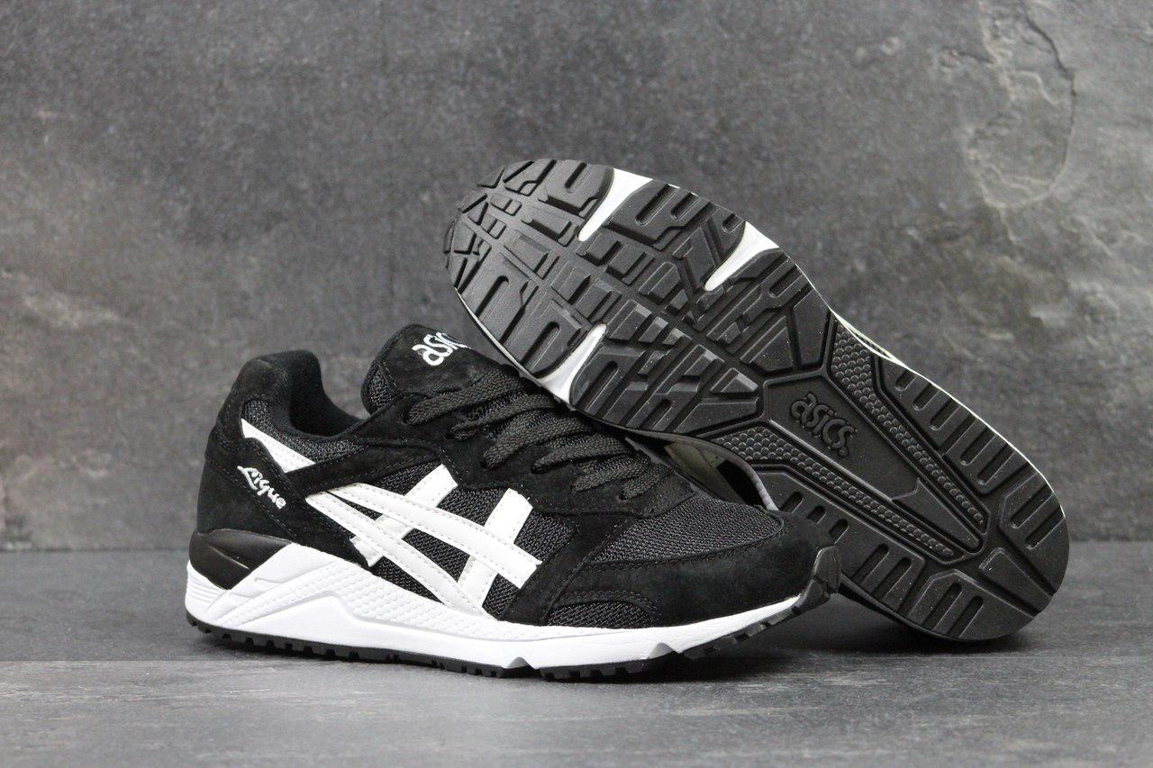 Asics Gel-Lique мужские кроссовки артикул 4481 черные с белым 45 -
