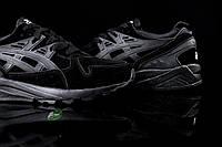 Модные черные кроссовки Asics gel kayano knit