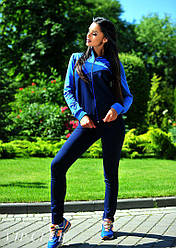 Женский спортивный  костюм, синий, 42-46
