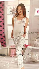 Женский комплект брюки футболка изумительного качества