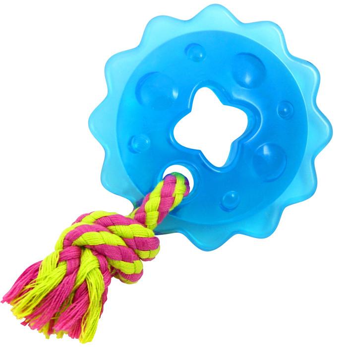Petstages Mini Orka Ring with Rope, 9 см - Мини Орка звездочка с канатом - игрушка для собак