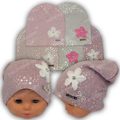 Красивые шапки для девочек, р. 44-46