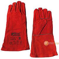 Werk WE2128 Перчатки замшевые (краги) красные