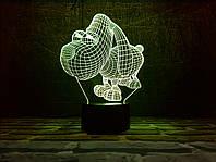 """Сменная пластина для 3D Светильников """"Песик """" 3DTOYSLAMP, фото 1"""