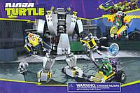 Конструктор Нападение робота Бакстера Bela Ninja Turtles № 10209