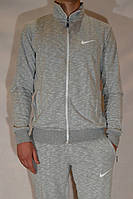 Мужской спортивный костюм Nike (размеры 46-54, трикотаж) - светло-серый