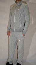 Мужской спортивный костюм Nike (размеры 46-54, трикотаж) - светло-серый, фото 2