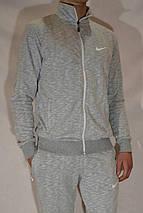Мужской спортивный костюм Nike (размеры 46-54, трикотаж) - светло-серый, фото 3