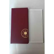 Книжка алфавитная А4, 176лист., 135х285мм, баладек бордо