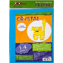 Обложка для учебников Crystal, 1-4 кл., комплект 5 шт.
