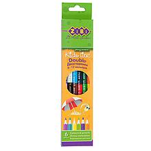 Карандаши цветные 6 цветов DOUBLE