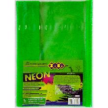 Обложка для учебника NEON с клапаном 250*420мм, PVC, салатовая