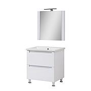 Мини-комплект мебели для ванной комнаты Эльба 60 напольный с зеркалом Юввис