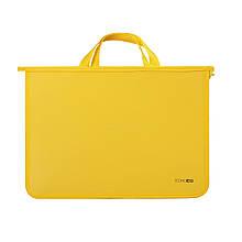 """Портфель пластиковый  А4 """"Economix"""" (E31630-05) 2 отделения, желтый"""