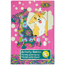 Папка для труда Art Effect DOG, картонная, на резинках А4 + (315х215х30мм)