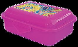 Контейнер для еды, 138*104*54мм, розовый