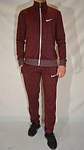 Мужской спортивный костюм Nike (размеры 46-54, трикотаж) - бордовый, фото 3
