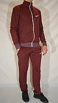 Мужской спортивный костюм Nike (размеры 46-54, трикотаж) - бордовый, фото 2