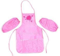 Фартух с нарукавниками для детского творчества Economix цвет розовый