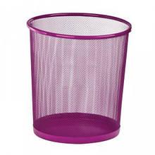 Корзина для бумаг Zibi круглая 295x295x280мм металлическая розовая (ZB.3126-10)