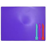 Дощечка для пластилина Zibi 3 стека фиолетовая