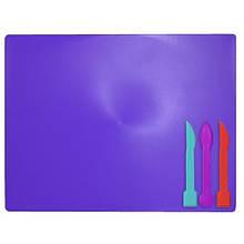 Дощечка для пластилина Zibi 3 стека фиолетовая (ZB.6910-07)