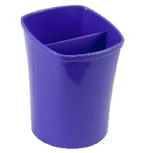 Стакан для ручек квадратный на два отделения, фиолетовый