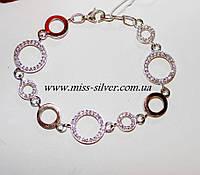Серебряный браслет с круглыми звеньями Оливия