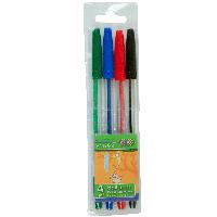 Набор из 4 шариковых ручок  4 цвета ZB.2010