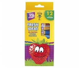 Мел масляный CoolForSchool Fresh Ideas, 12 цветов (CF60708)
