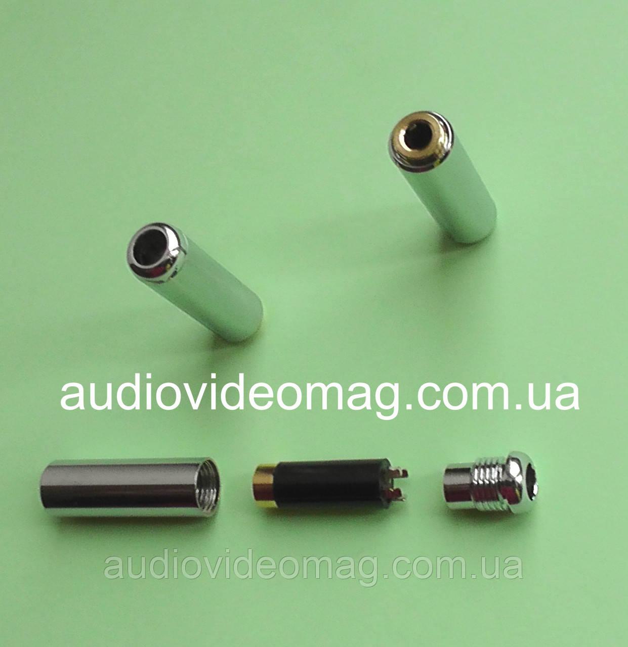 Гнездо 3.5 (4 pin), металлический корпус, на кабель