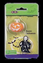 Ластики фигурные ZiBi Halloween 2 шт Тыква + Привидение Разноцветные (ZB.5410)